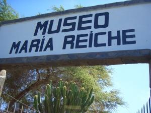 Museo Maria Reiche sign