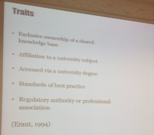 "Traits of ""a profession"""